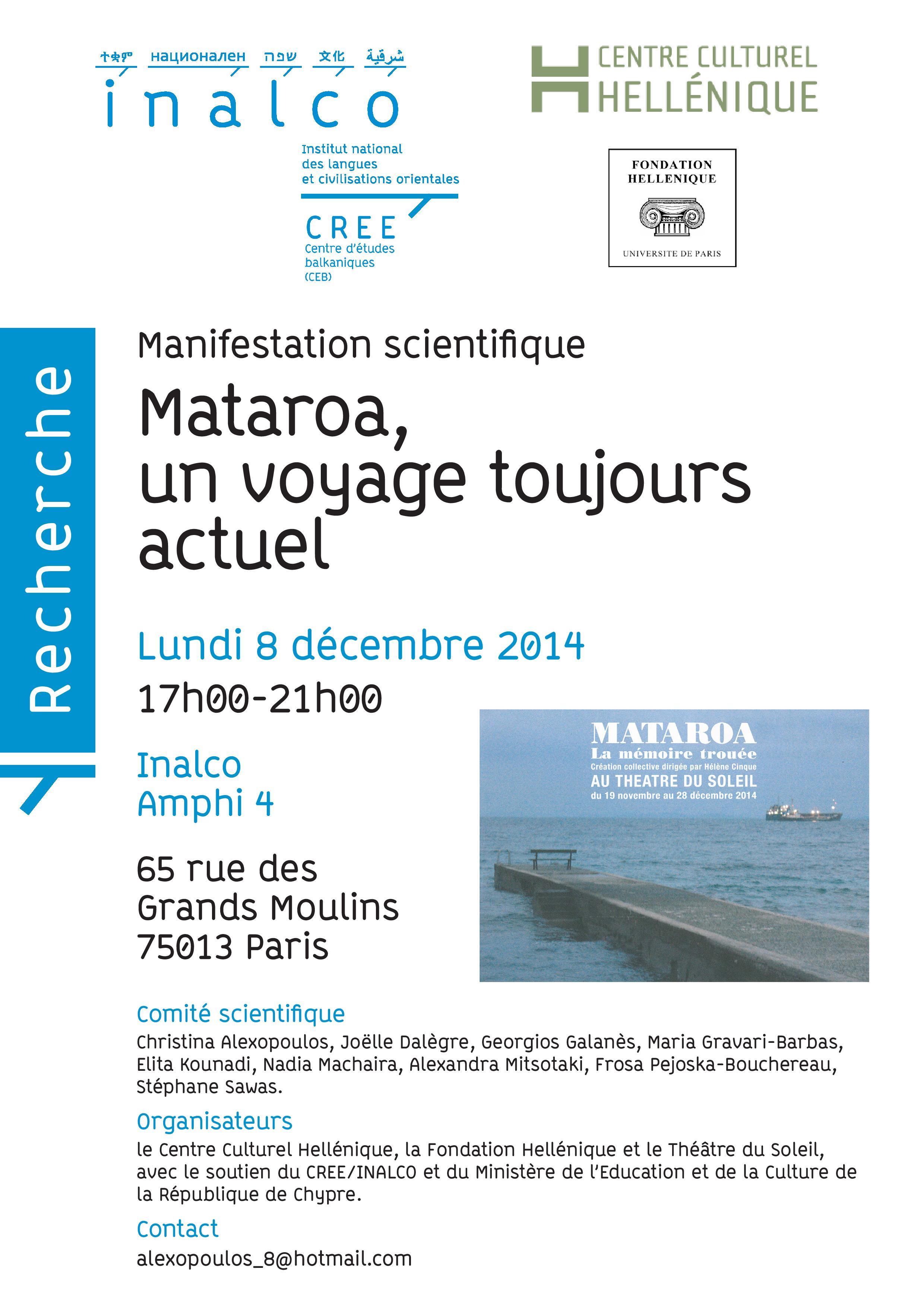 Invitation à «Mataroa, un voyage toujours actuel»