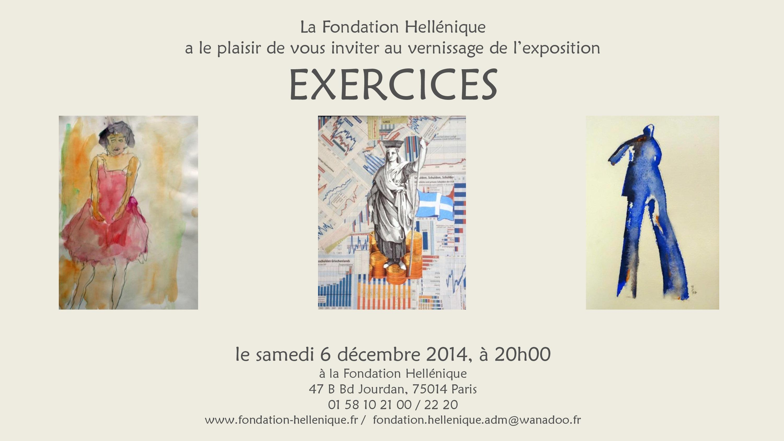 Invitation au Vernissage de l'Exposition « EXERCICES »